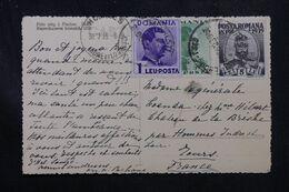 ROUMANIE - Affranchissement Plaisant Sur Carte Postale En 1939 Pour La France - L 70250 - Briefe U. Dokumente