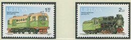 LITAUEN / MiNr. 794 - 795 / Technische Denkmäler (II): Schmalspur-Lokomotiven / Postfrisch / ** / MNH - Trenes
