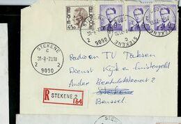 Doc. De STEKENE - 2 C 2 -  ( 9090 ) Du 31/08/73 En Rec. ( E ) - Marcophilie
