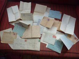LOT CORRESPONDANCE LETTRES MANUSCRITES GUERRE 39-45 MADAME PAULIN - 1939-45