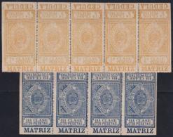 F-EX16569 SPAIN REVENUE 1901 CEDULA MADRID RECARGO MUNICIPAL ORIGINAL GUM - Fiscales