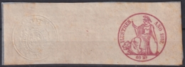 F-EX16912 SPAIN ESPAÑA 1857 POLIZAS DE BOLSA REVENUE SELLO ILUSTRES COMPLETO - Fiscales