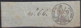 F-EX16914 SPAIN ESPAÑA 1857 POLIZAS DE BOLSA REVENUE SELLO 4to COMPLETO - Fiscales