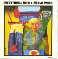 """MEN AT WORK """"EVERYTHING I NEED - SAIL TO YOU"""" DISQUE VINYL 45 TOURS - Vinyl Records"""