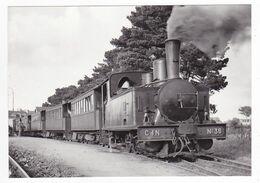 CPM VOIR DOS 22 ETABLES Train Du Matin Voyageurs Locomotive Vapeur Corpet Louvet N°36 Pour St Brieuc En 1946 - Etables-sur-Mer