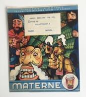 Protège-cahier Géants De ATH Doudou MONS Années 40 Confiture MATERNE Ill Benoît GILSOUL Béatrice Mallet - Lebensmittel