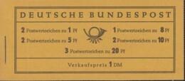 BRD  Markenheftchen 4 X U, Postfrisch **, Heuss 1958 - [7] Federal Republic