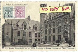 00501 BRUGGE - BRUGES // BINNENZICHT VAN HET PALEIS GRUUTHUSE // INTERIEUR DU PALAIS // TIMBRES // ECRITE - Brugge