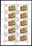 Austria / Österreich 2603 Mozart Kleinbogen Sauber Gestempelt Gemäss Scan - Blocks & Sheetlets & Panes