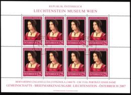 Austria / Österreich 2641 Lichtenstein Museum Wien Kleinbogen Sauber Gestempelt Gemäss Scan - Blocks & Sheetlets & Panes