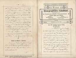 Wiener Stenographisches Schulblatt Aus Dem Jahr 1910 - Programma's