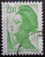 FRANCE Liberté De Gandon N°2188a 1 Bande De Phosphore Oblitéré - 1982-90 Vrijheid Van Gandon
