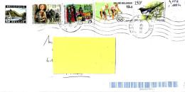 BELGIO - 2020 Lettera Posta Aerea Per L'estero Con 5 Francobolli - 4147 - Belgium