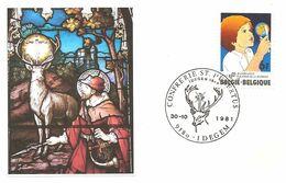 BELGIO - 1981 IDEGEM Confraternita S. UBERTO (cervo, Croce) - 3965 - Christianisme