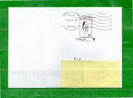 Italia °- 2020 -  CENTENARIO CAGLIARI CALCIO. Isolato Su Busta.   Usato. - 2011-...: Oblitérés