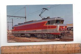 Image Souvenir Du Baptème De La Locomotive CC6535 Ville De SAINT ST CHAMOND 1/12/1973 Train Chemin De Fer SNCF - Spoorweg