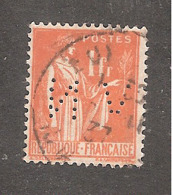 Perforé/perfin/lochung France No 286 VN Mines De Noeux-Vicoigne - Gezähnt (Perforiert/Gezähnt)
