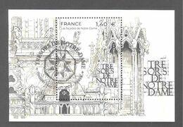 France Bloc Oblitéré (Trésors De Notre-Dame) ( Cachet Rond) - Usati