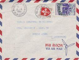 FRANCE 1960, ENVELOPPE CIRCULEE MAUZE SUR LE MIGNON A BUENOS AIRES, ARGENTINE. PAR AVION -LILHU - Lettres & Documents