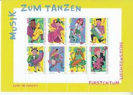 2018 Liechtenstein Music Jazz Country Pop Classical Miniature Sheet Of 8  MNH @ BELOW FACE VALUE - Liechtenstein