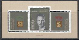 2018 Liechtenstein Prince Alois Royalty Miniature Sheet Of 3  MNH @ BELOW FACE VALUE - Liechtenstein