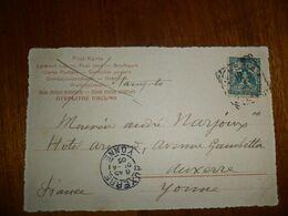 Italia REGNO  1904 Cartolina Per FRANCIA C. 5 CON BOLO QUADRATO - Storia Postale