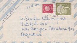 ALLEMAGNE 1960, ENVELOPPE CIRCULEE DUSSELDORF A TRES ARROYOS, ARGENTINE. PAR AVION. FULL CONTENT INSIDE -LILHU - Cartas