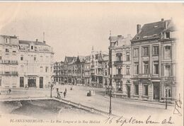 Belgique Blankenberghe La Rue Longue Et La Rue Malécot  TBE - Blankenberge