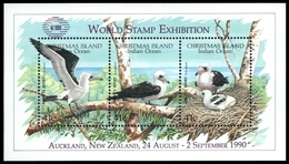 "Weihnachtsinsel 1990 - Mi-Nr. Block 5 I ** - MNH - Vögel / Birds - ""Auckland"" - Christmas Island"