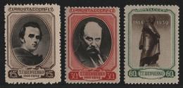 Russia / Sowjetunion 1939 - Mi-Nr. 695-697 ** - MNH - Schewtschenko (3) - Nuevos