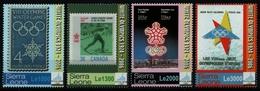 Sierra Leone 2006 - Mi-Nr. 4908-4911 ** - MNH - Marke Auf Marke - Olympia - Sierra Leona (1961-...)