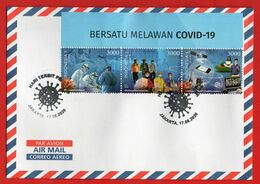 #4- Indonesia Cover (114x162 Mm) Ordinary Post, Sent To Your Address. FDC Covid-19, 2020, Shipping Free - Indonesia