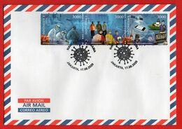 #5- Indonesia Cover (114x162 Mm) Ordinary Post, Sent To Your Address. FDC Covid-19, 2020, Shipping Free - Indonesia