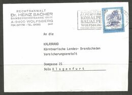 AUSTRIA. 3S COVER. WOLFSBERG – DR HEINZ SACHER. - 1981-90 Cartas