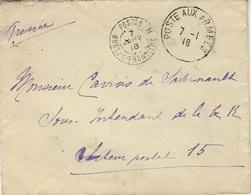 1918- Enveloppe De Poste Aux Armées  + Cad  POSTE  / BUREAU FRONTIERE N - 1. Weltkrieg 1914-1918