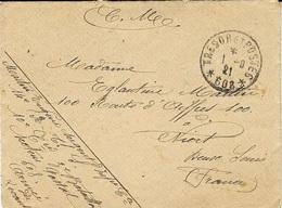 1921- Enveloppe  Du S P 608 (  Mersina ) 14 è Régiment De Tirailleurs Sénégalais - Poststempel (Briefe)
