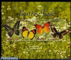 Tuvalu 2006 Butterflies 4v M/s, (Mint NH), Nature - Butterflies - Tuvalu