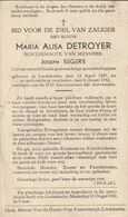 Liedekerke, 1942, Maria Detroyer, Segers - Andachtsbilder