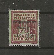 FISCAUX  FRANCE SOCIO-POSTAUX D'ALSACE LORRAINE N°176  4F80 Sur 5F30 Brun SURCHARGE PART PATRONALE Cote 180€ - Revenue Stamps