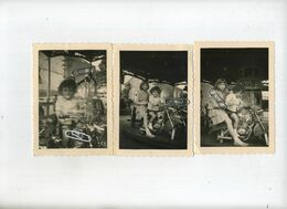 MOTO  : 3  Photo's 11.5 X 9.5 Cm :  Kermis - Kermesse - Foto's