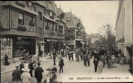 Cp Deauville La Plage Fleurie Calvados, La Rue Gontaut Biron - Frankreich