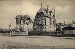Cp Deauville Sur Mer Calvados, La Terrasse, Villa Green Lodge Et Pierre André - Frankreich