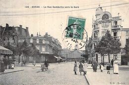 C P A 62] Pas De Calais > Arras La Rue Gambetta Carte Animée - Arras