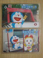 HongKong Metro  Souvenir Ticket Set, 30 Anniversary Of Doraemon,set Of 2, In Folder - Hongkong