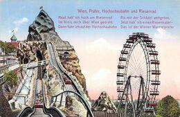 Wien - Prater Hochschaubahn Und Riesenrad - Prater