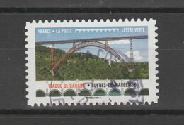"""FRANCE / 2017 / Y&T N° AA 1470 : """"Ponts & Viaducs"""" (Viaduc De Garabit) - Choisi - Cachet Rond - Adhesive Stamps"""
