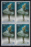 CUBA 2015. BALLET. CENTENARIO DEL DEBUT DE ANNA PAVLOVA EN CUBA. BLOQUE DE CUATRO. MNH. EDIFIL 6090 - Unused Stamps
