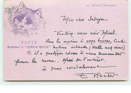 Edmond Rocher - Patte Rédacteur à Simple Revue - Chat - Altre Illustrazioni