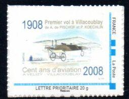 (L139) MTAM Personnalisé Centenaire Du Premier Vol à Villacoublay (1908) Sur Son Support D'origine - Frankreich