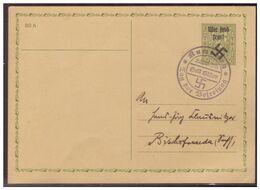 """Rumburg (005968) WKII Ganzsache P7 """"Wir Sind Frei"""" Gestempelt Mit SST Rumburg Zum Tag Der Befreiung Am 22.9.38 - Occupation 1938-45"""